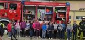 Wizyta strażaków z Mielżyna w naszej szkole 1 czerwca 2021